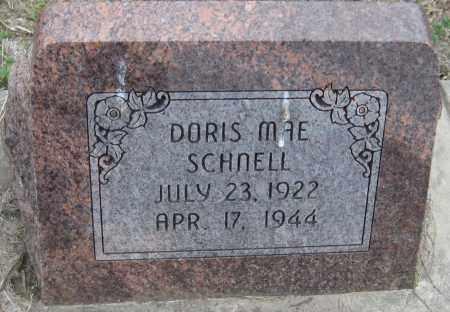 SCHNELL, DORIS MAE - Saline County, Nebraska   DORIS MAE SCHNELL - Nebraska Gravestone Photos