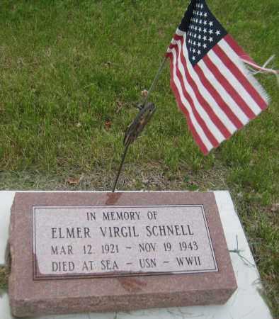 SCHNELL, ELMER VIRGIL - Saline County, Nebraska | ELMER VIRGIL SCHNELL - Nebraska Gravestone Photos
