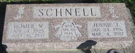 SCHNELL, JENNIE L. - Saline County, Nebraska | JENNIE L. SCHNELL - Nebraska Gravestone Photos