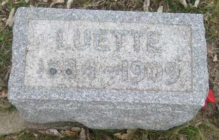 SCHWENTKER, LUETTE - Saline County, Nebraska | LUETTE SCHWENTKER - Nebraska Gravestone Photos