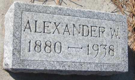 SHUFELDT, ALEXANDER W. - Saline County, Nebraska | ALEXANDER W. SHUFELDT - Nebraska Gravestone Photos