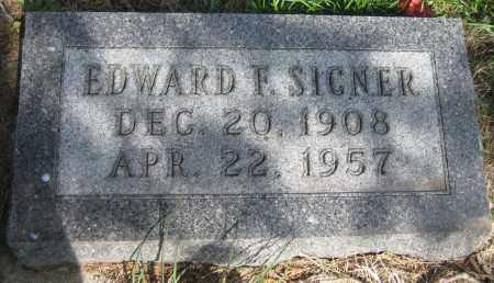SICNER, EDWARD F. - Saline County, Nebraska   EDWARD F. SICNER - Nebraska Gravestone Photos