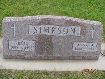 SIMPSON, ANNA D. - Saline County, Nebraska | ANNA D. SIMPSON - Nebraska Gravestone Photos
