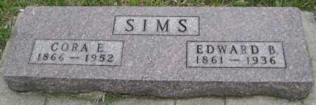 SIMS, EDWARD B. - Saline County, Nebraska | EDWARD B. SIMS - Nebraska Gravestone Photos