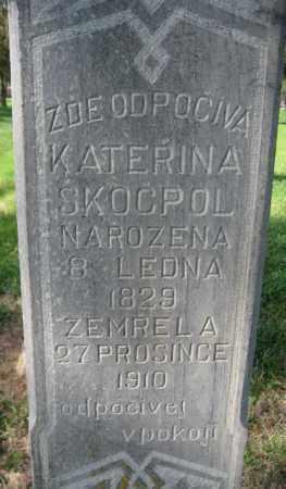 SKOCPOL, KATERINA - Saline County, Nebraska | KATERINA SKOCPOL - Nebraska Gravestone Photos