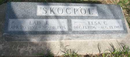 SKOCPOL, ELSA C. - Saline County, Nebraska | ELSA C. SKOCPOL - Nebraska Gravestone Photos