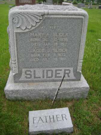 SLIDER, MARY A. - Saline County, Nebraska   MARY A. SLIDER - Nebraska Gravestone Photos
