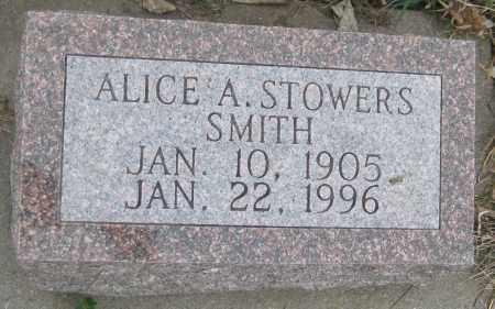 STOWERS SMITH, ALICE A. - Saline County, Nebraska | ALICE A. STOWERS SMITH - Nebraska Gravestone Photos