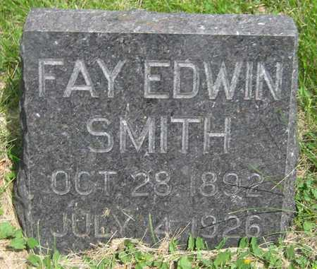 SMITH, FAY EDWIN - Saline County, Nebraska | FAY EDWIN SMITH - Nebraska Gravestone Photos