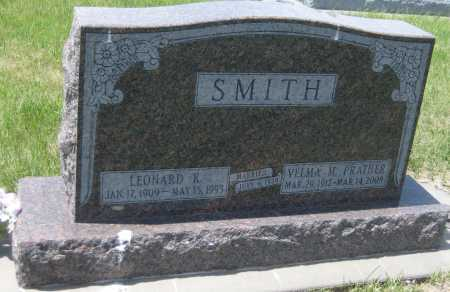 SMITH, LEONARD K. - Saline County, Nebraska | LEONARD K. SMITH - Nebraska Gravestone Photos