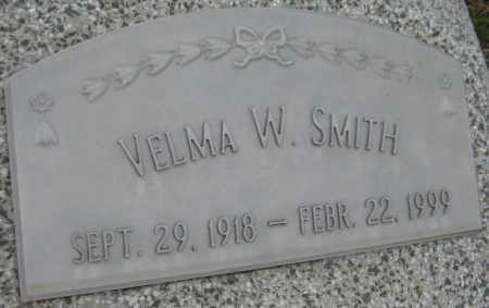 SMITH, VELMA W. - Saline County, Nebraska | VELMA W. SMITH - Nebraska Gravestone Photos