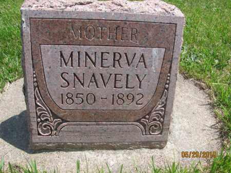 SNAVELY, MINERVA ANN - Saline County, Nebraska | MINERVA ANN SNAVELY - Nebraska Gravestone Photos