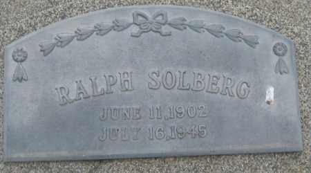 SOLBERG, RALPH - Saline County, Nebraska | RALPH SOLBERG - Nebraska Gravestone Photos