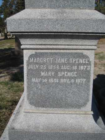 SPENCE, MARGARET JANE - Saline County, Nebraska | MARGARET JANE SPENCE - Nebraska Gravestone Photos