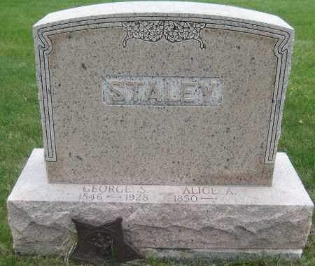 STALEY, ALICE A. - Saline County, Nebraska | ALICE A. STALEY - Nebraska Gravestone Photos