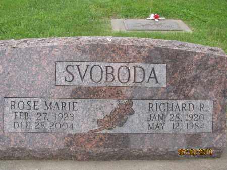 SVOBODA, ROSE MARIE - Saline County, Nebraska | ROSE MARIE SVOBODA - Nebraska Gravestone Photos