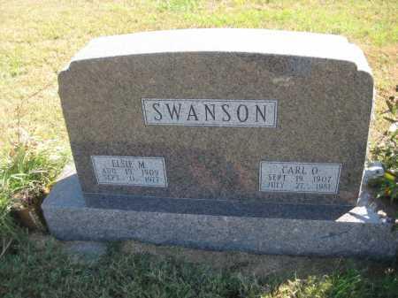 SWANSON, ELSIE M. - Saline County, Nebraska | ELSIE M. SWANSON - Nebraska Gravestone Photos