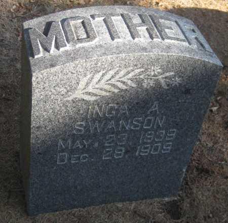 SWANSON, INGA A. - Saline County, Nebraska | INGA A. SWANSON - Nebraska Gravestone Photos