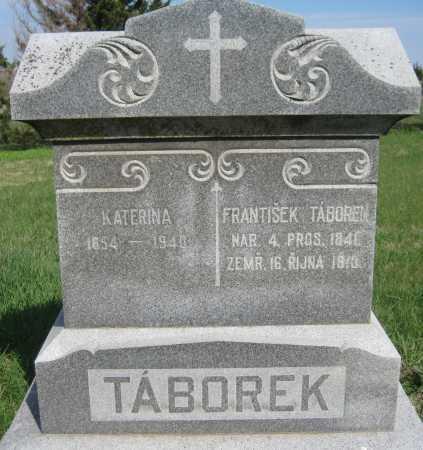 VALECKA TABOREK, KATERINA - Saline County, Nebraska | KATERINA VALECKA TABOREK - Nebraska Gravestone Photos