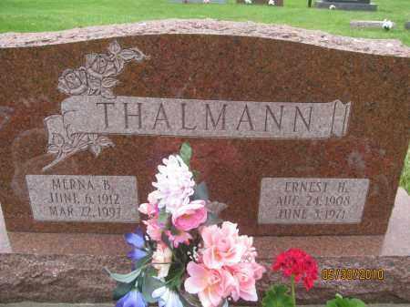 THALMANN, ERNEST H. - Saline County, Nebraska | ERNEST H. THALMANN - Nebraska Gravestone Photos