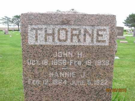 THORNE, NANNIE J. - Saline County, Nebraska | NANNIE J. THORNE - Nebraska Gravestone Photos