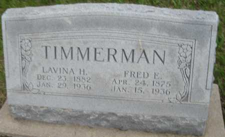 TIMMERMAN, FRED E. - Saline County, Nebraska | FRED E. TIMMERMAN - Nebraska Gravestone Photos