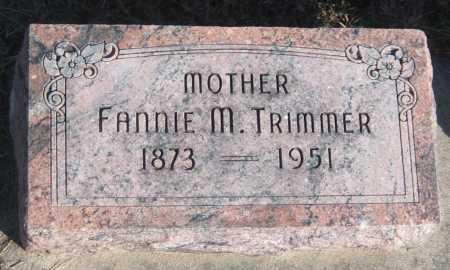 TRIMMER, FANNIE M. - Saline County, Nebraska   FANNIE M. TRIMMER - Nebraska Gravestone Photos