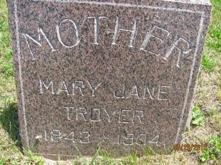 TROYER, MARY JANE - Saline County, Nebraska | MARY JANE TROYER - Nebraska Gravestone Photos