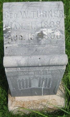 TURNER, GEORGE W. - Saline County, Nebraska | GEORGE W. TURNER - Nebraska Gravestone Photos
