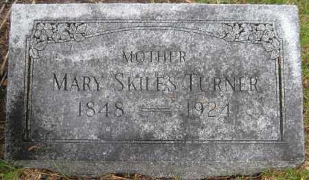 SKILES TURNER, MARY - Saline County, Nebraska   MARY SKILES TURNER - Nebraska Gravestone Photos