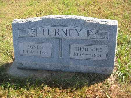 TURNEY, AGNES - Saline County, Nebraska | AGNES TURNEY - Nebraska Gravestone Photos