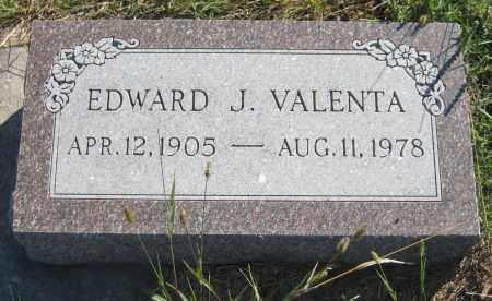 VALENTA, EDWARD J. - Saline County, Nebraska | EDWARD J. VALENTA - Nebraska Gravestone Photos
