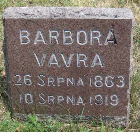 VAVRA, BARBORA - Saline County, Nebraska | BARBORA VAVRA - Nebraska Gravestone Photos
