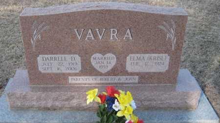 VAVRA, DARRELL D. - Saline County, Nebraska | DARRELL D. VAVRA - Nebraska Gravestone Photos