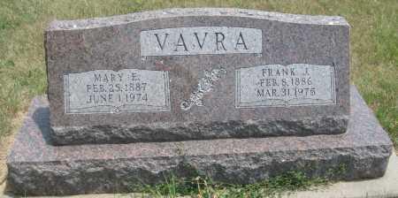 VAVRA, FRANK J. - Saline County, Nebraska | FRANK J. VAVRA - Nebraska Gravestone Photos