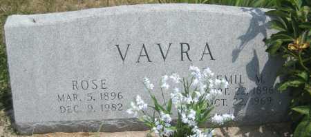 VAVRA, ROSE - Saline County, Nebraska | ROSE VAVRA - Nebraska Gravestone Photos