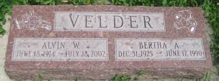 VELDER, BERTHA A. - Saline County, Nebraska | BERTHA A. VELDER - Nebraska Gravestone Photos