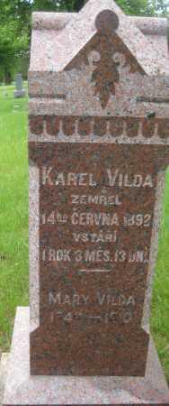 LIBAL VILDA, MARY - Saline County, Nebraska | MARY LIBAL VILDA - Nebraska Gravestone Photos