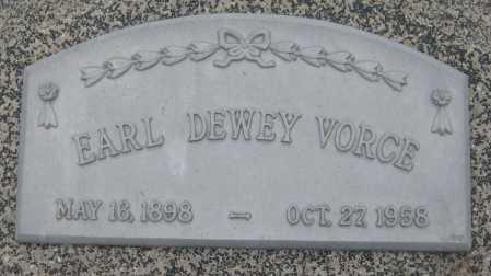 VORCE, EARL DEWEY - Saline County, Nebraska | EARL DEWEY VORCE - Nebraska Gravestone Photos