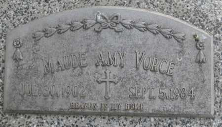 VORCE, MAUDE AMY - Saline County, Nebraska | MAUDE AMY VORCE - Nebraska Gravestone Photos