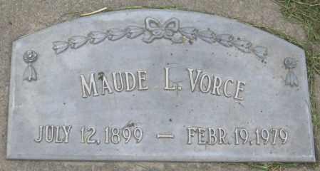 VORCE, MAUDE L. - Saline County, Nebraska   MAUDE L. VORCE - Nebraska Gravestone Photos