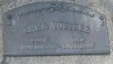 VOSTREZ, EMMA - Saline County, Nebraska | EMMA VOSTREZ - Nebraska Gravestone Photos