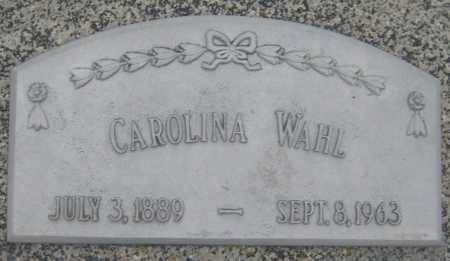 WAHL, CAROLINA - Saline County, Nebraska | CAROLINA WAHL - Nebraska Gravestone Photos