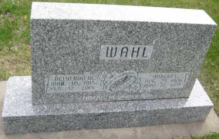 WAHL, HARLAN L. - Saline County, Nebraska | HARLAN L. WAHL - Nebraska Gravestone Photos