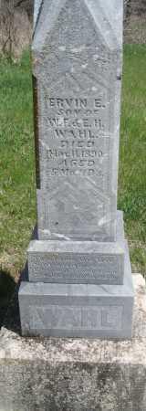 WAHL, ERVIN E. - Saline County, Nebraska   ERVIN E. WAHL - Nebraska Gravestone Photos
