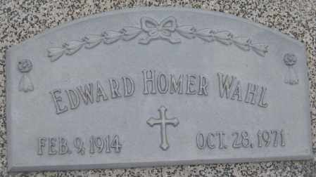WAHL, EDWARD HOMER - Saline County, Nebraska | EDWARD HOMER WAHL - Nebraska Gravestone Photos
