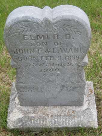 WAHL, ELMER D. - Saline County, Nebraska | ELMER D. WAHL - Nebraska Gravestone Photos