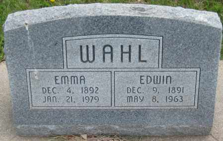 WAHL, EDWIN - Saline County, Nebraska | EDWIN WAHL - Nebraska Gravestone Photos