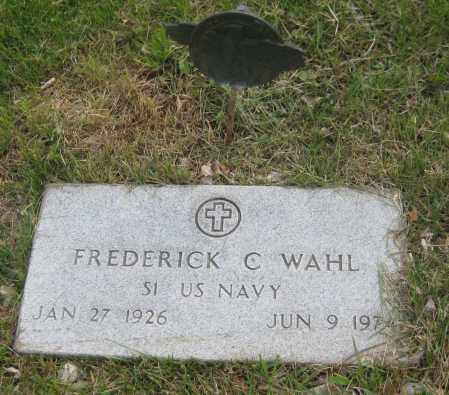 WAHL, FREDERICK C. - Saline County, Nebraska | FREDERICK C. WAHL - Nebraska Gravestone Photos