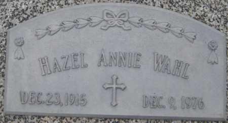 WAHL, HAZEL ANNIE - Saline County, Nebraska | HAZEL ANNIE WAHL - Nebraska Gravestone Photos